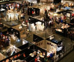 Exhibit floor of the Craft Fair of the Southern Highlands.