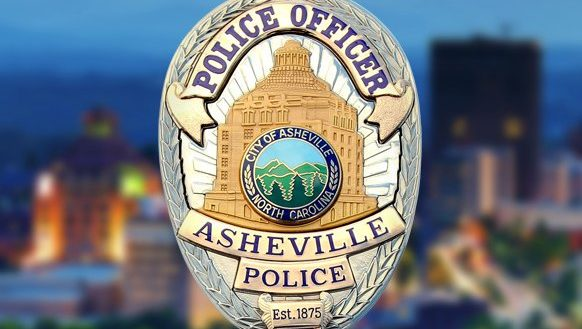 A graphic of the Asheville Police Department badge.