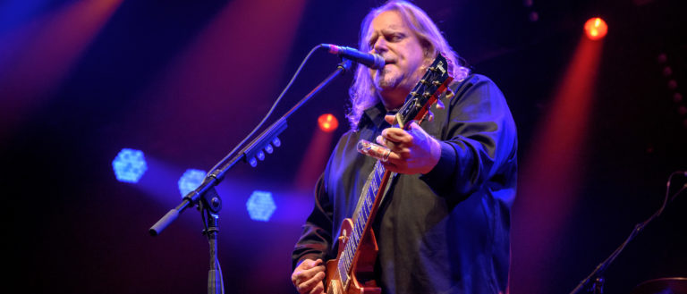 Warren Haynes performing at an annual Christmas Jam.
