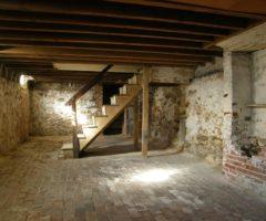 The basement of author Edgar Allan Poe.