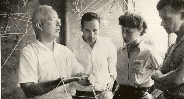 Buckminster Fuller (far left) with colleagues at Black Mountain College.