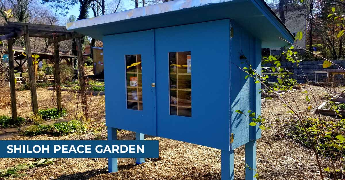 An outdoor box for food pantry items.