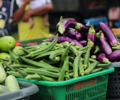 Okra at a farmers market.