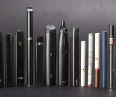 An assortment of electronic cigarettes.