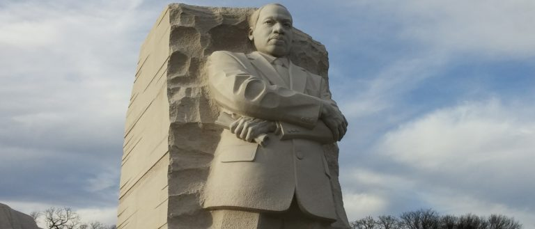 A statue of Martin Luther King, Jr.