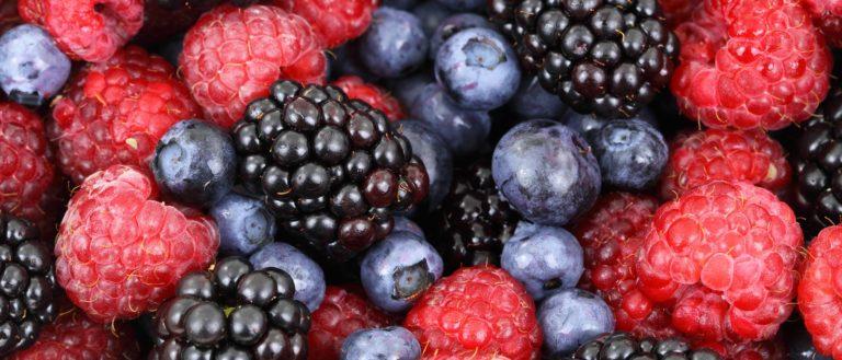 An assortment of berries.
