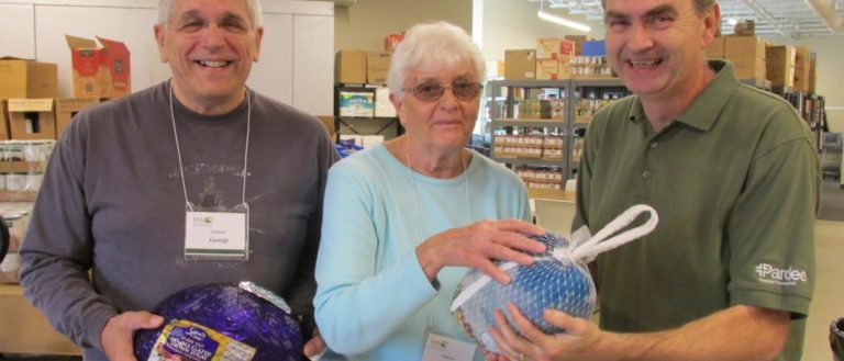 Interfaith Assistance Ministry volunteers at a turkey drive.