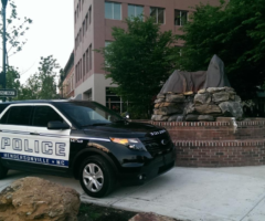 A Hendersonville Police Department vehicle in downtown Hendersonville.