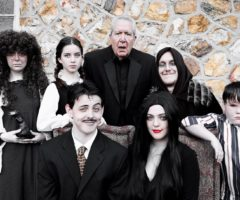 Hendersonville Community Theatre actors dressed as the The Addams Family.