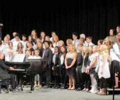 Students performing a chorus.