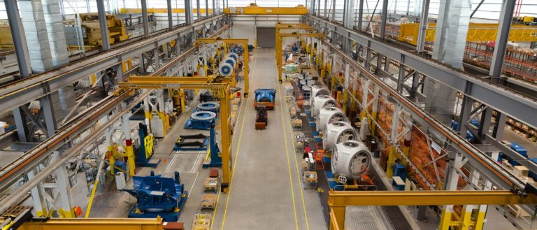 A manufacturing facility filled with machinery.