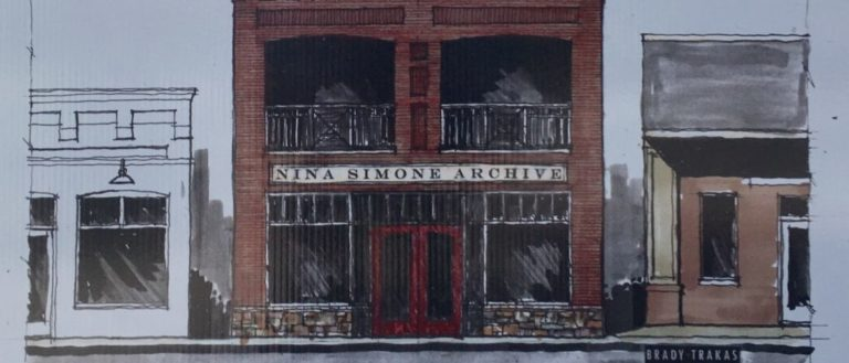 A rendering of the future Nina Simone Archive.
