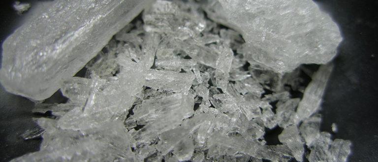 A rendering of crystal meth.