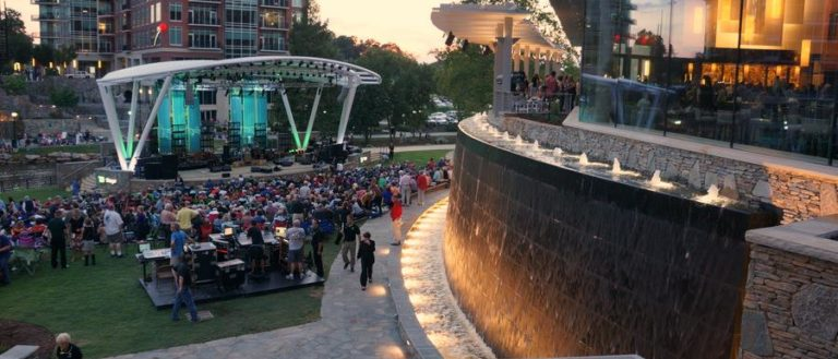 A wide-angle view of a Reedy River Concert.