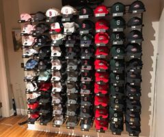Greenville Drive hats at a store.