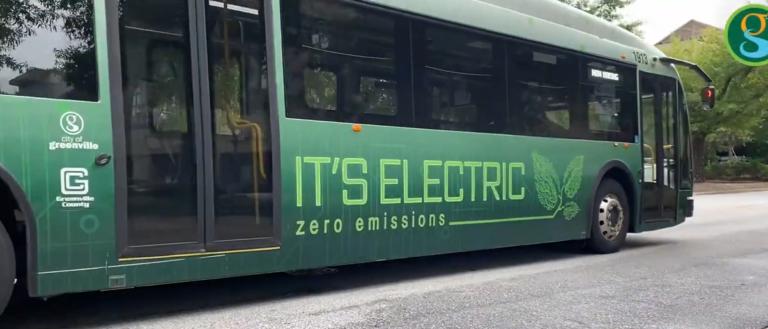 A zero emission transportation bus.