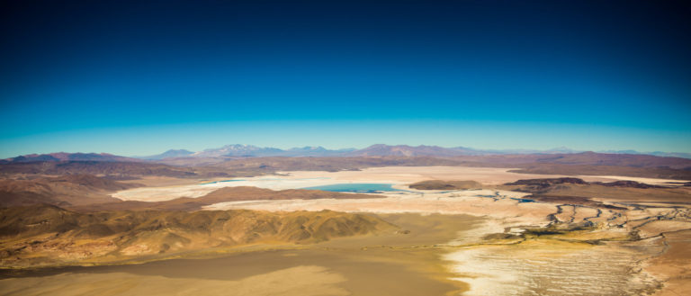A large lake with lithium deposits.