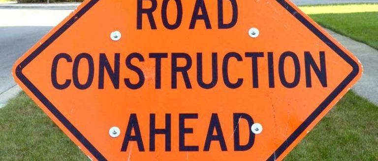 A road construction sign.