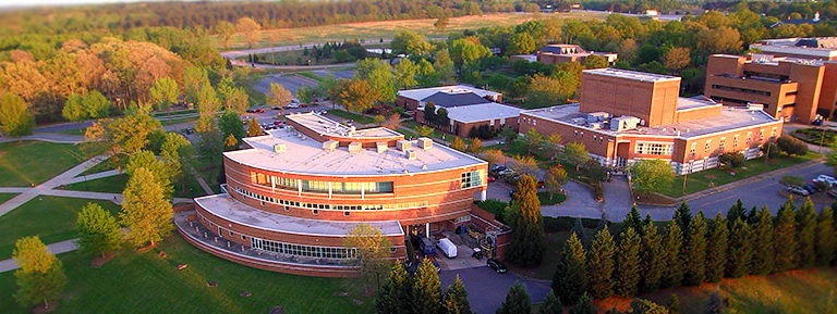 An aerial view of USC Upstate's campus.