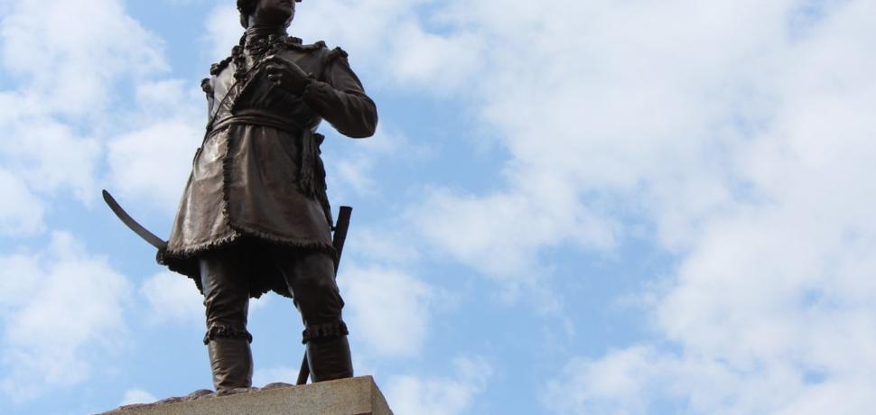 The General Daniel Morgan statue in downtown Spartanburg.