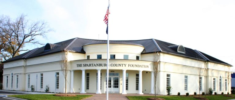 The exterior of Spartanburg County Foundation's headquarters.