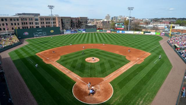 A view of Fluor Field from up high.