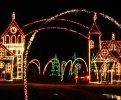 The entrance to Holiday Lights Safari Benefit at Hollywild.