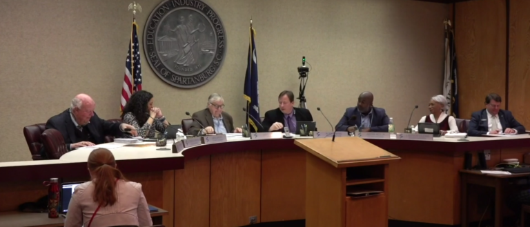 Spartanburg City Council members at a March 2019 meeting.
