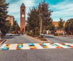 A potential Chapman Cultural Center crosswalk mural in downtown Spartanburg.