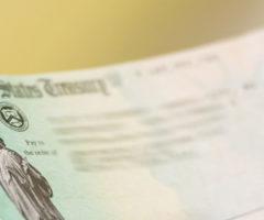 A US Treasury check.