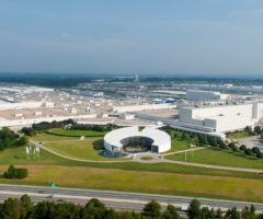 The aerial view of BMW Group's Spartanburg plant.